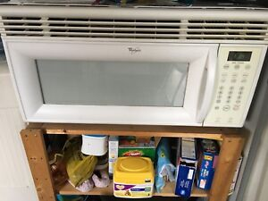 Large over the range microwave