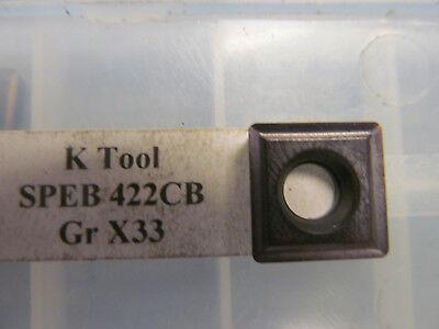 K Tool Speb 422cb X33 Buy It Now 12 Inserts
