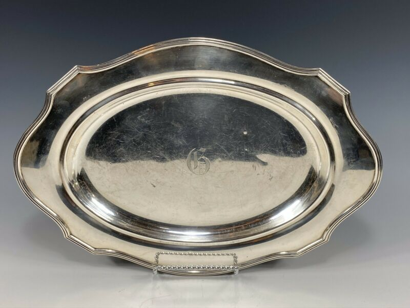 Antique Gorham Plymouth Pattern Sterling Silver Platter Tray Early 1900's