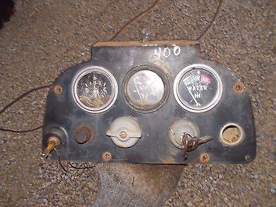 Farmall 400 Gas Tractor Original Ih Ihc Dash Panel Gauges Switch Original Key