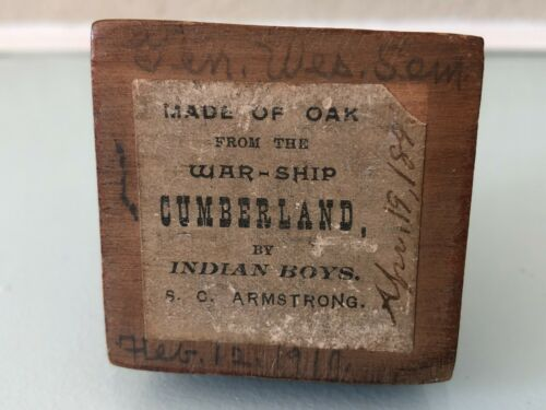 1862 Ironclad CSS Virginia sunk USS Cumberland Civil War relic US Navy Warship
