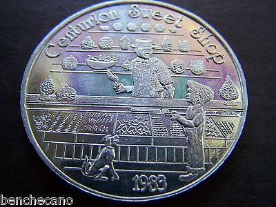1983 A KID IN A CANDY STORE Plain Aluminum Mardi Gras Doubloon - Mardi Gras Stores
