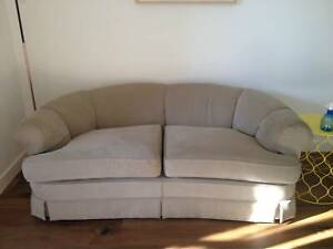 Suede two seater beige couch