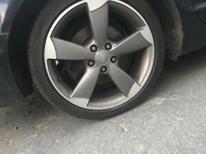"18"" Audi rims and tires"