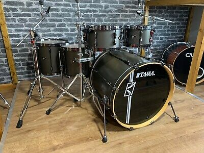 Tama Superstar Hyperdrive Drum Kit Shell Pack Black Nickel Hardware #313