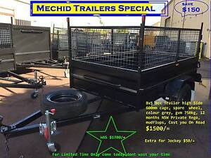 BOX TRAILER 8X5 HI SIDE & 600MM CAGE ON SALE 1Y PRIV REGO $1500 Hornsby Area Preview