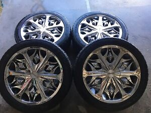 MAGS 17' 5X100 & 5X120 + SUMMER TIRES 9/32. 650$