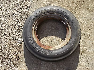 Farmall A B C Tractor 5.00 X 15 Front Ih Open Center Rim W Armstrong Tire