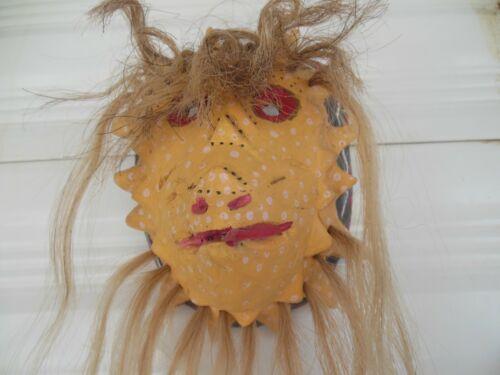 Yaqui Pascola Dance Mask Horned Lizard Horny Toad Camilo Butimea Mexico handmade