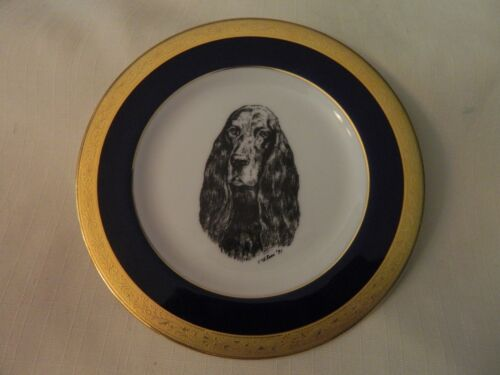 1991 PRETTY ENGLISH  COCKER SPANIEL COLLECTOR PLATE - ELIOT ROSS -