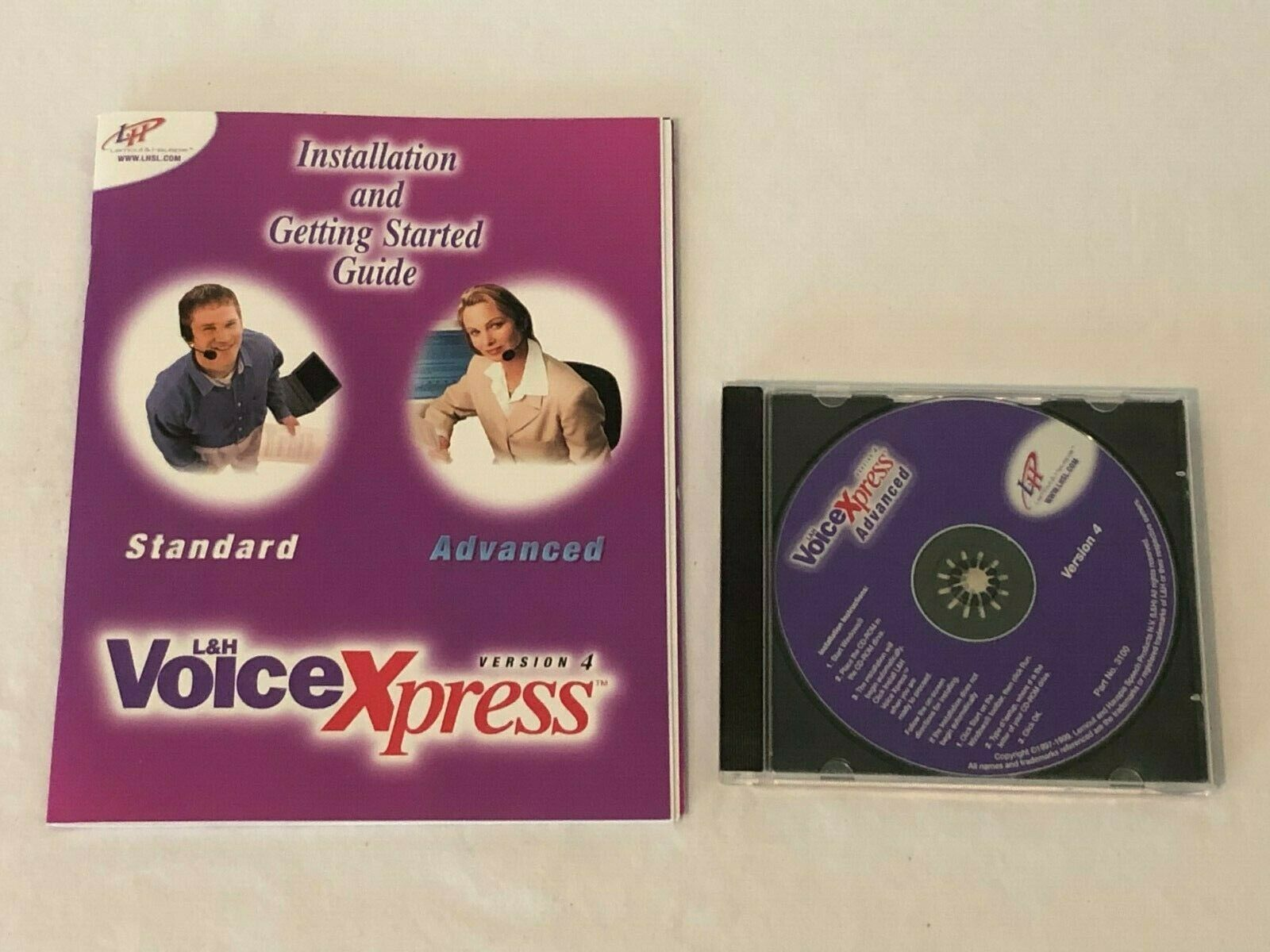 Voice Xpress Advanced Version 4 PC Computer Software Manual Guide and Disk