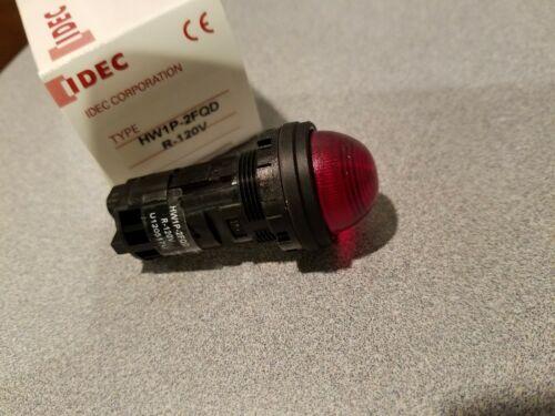 (1) Idec HW1P-2FQD R-120V Panel Indicator Pilot Lights LED Lamps, Red new