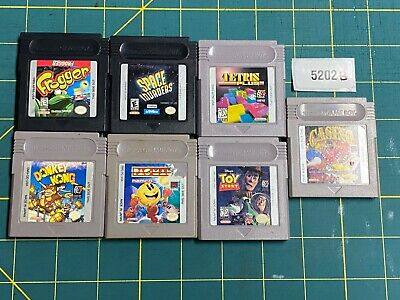 Lot of Gameboy Games: Frogger Pac-Man Tetris Donkey Kong Space Invaders Casino