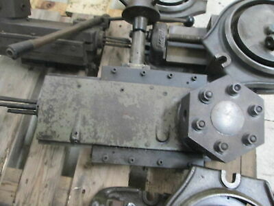 Clausing Model 7128 Manual Operation 6 Station Tool Turret Lathe Attachment
