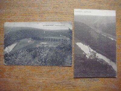 Lot de 2 cartes de HERBEUMONT ( Route de Conques / Presqu'iles )