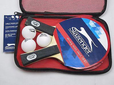 Tischtennis-Set 6tlg Tischtennisschläger 2 Schläger + 3 Bälle + Tasche Slazenger Tischtennis Tasche