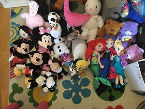 Lots of stuffed toys! Including Frozen, Mickey, Minnie, Care Bears Willetton Canning Area Preview