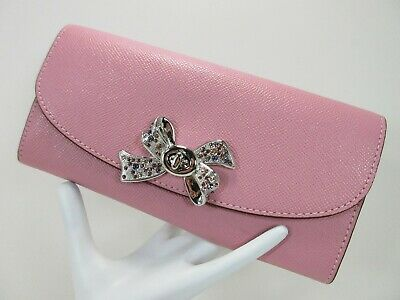COACH SLIM ENVELOPE WALLET WITH BOW TURNLOCK~TULIP -