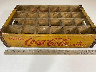 Yellow Coca Cola Wooden Coke Case/Crate Chattanooga, TN 1969 (24 Slot)
