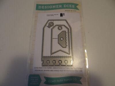 ECHO PARK HOLIDAY TAG DIE SET CARD MAKING SCRAPBOOKING GIFTS - Holiday Gift Tag Set