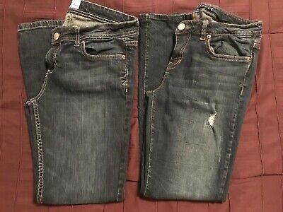 Bootcut Jeans 10 Short ( Women's Aeropostale Chelsea Bootcut Skinny Jeans Lot Tag Sz 9/10 Short  )
