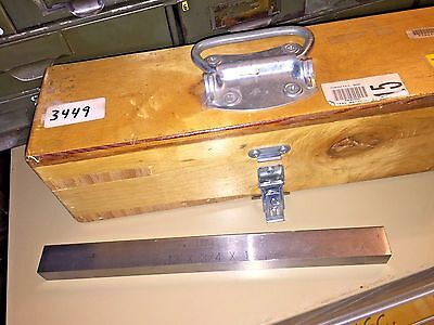 Brown Sharpe Precision Parallel Bar 12 X 34 X 1 In Wooden Case