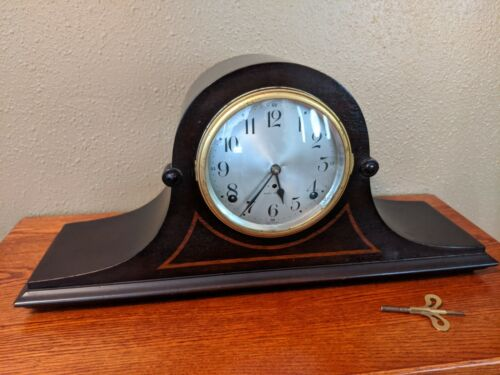 Vintage 1925 Seth Thomas Cymbal #5 Tambour Mantel Clock Runs Very Nice w/key