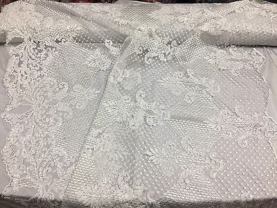 Fantastic Mesh with Bright sequins for wedding-dress White.sold by the yard