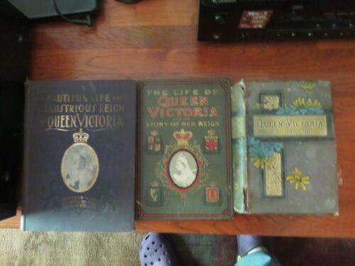 3 ANTIQUE QUEEN VICTORIA BOOKS