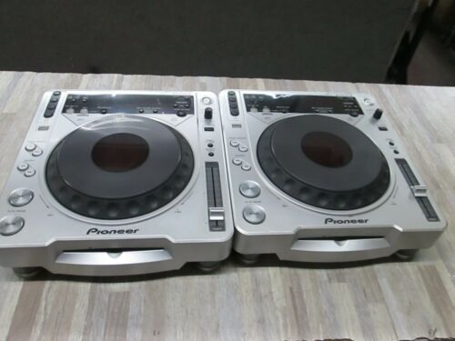 lot of 2 Pioneer CDJ-800MK2 DJ Turntable  w/ cable  tested good