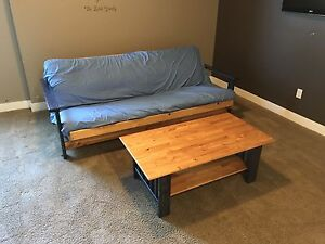 Double Futon with matching coffee table