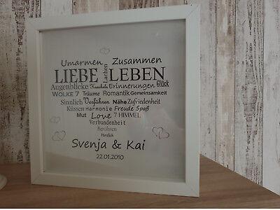 Jahrestag LED Bild Liebe Herz Geschenk Licht Freundin Freund
