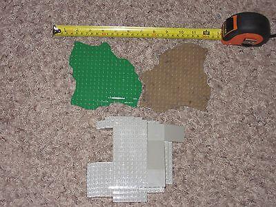 Lot Mega Bloks Base Plates Green Gray Brown Pieces Parts