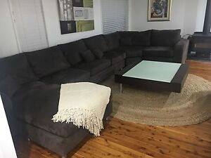 8 Seat Brown Leather Suede Sofa Liverpool Liverpool Area Preview