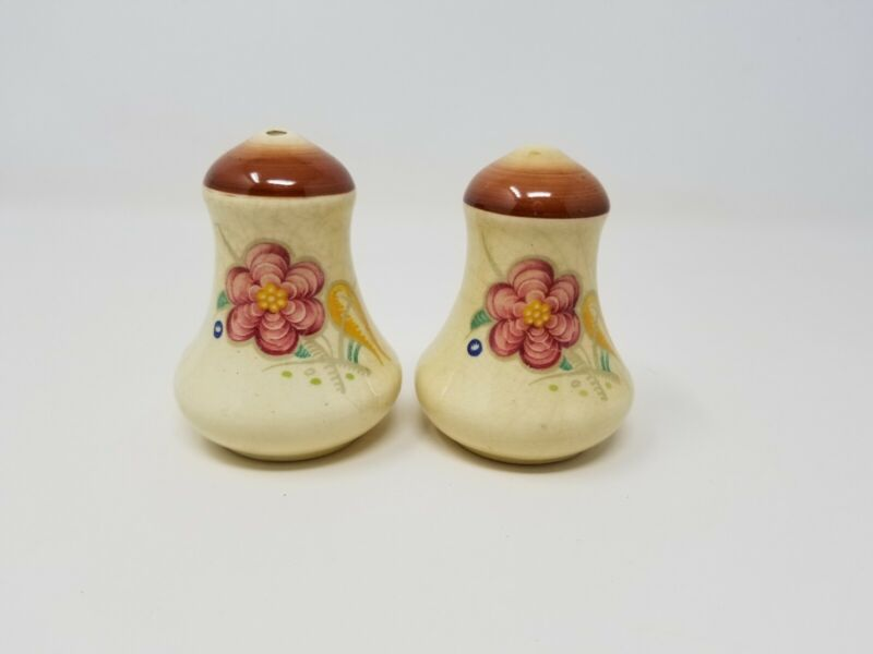 Vintage Art Deco Susie Cooper Burslem Works England Salt and Pepper
