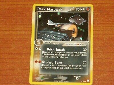 Pokemon Card: DARK MAROWAK #7/109 HP70 EX-Team Rocket Returns Rare Holofoil 2004