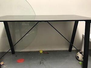 Large Glass Office Desk Biggera Waters Gold Coast City Preview