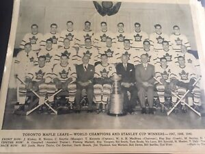 Toronto maple leafs Stanley Cup Winners 1947, 48, 49.