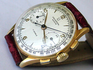 UNIVERSAL-GENEVE-18K-SOLID-GOLD-CAL-285-CHRONOGRAPH-LIKE-NEW