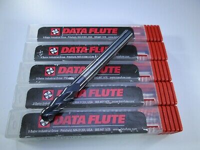 Lot 5 Pcs Data Flute Solid Carbide 14 End Mills Milling Machinist Tools