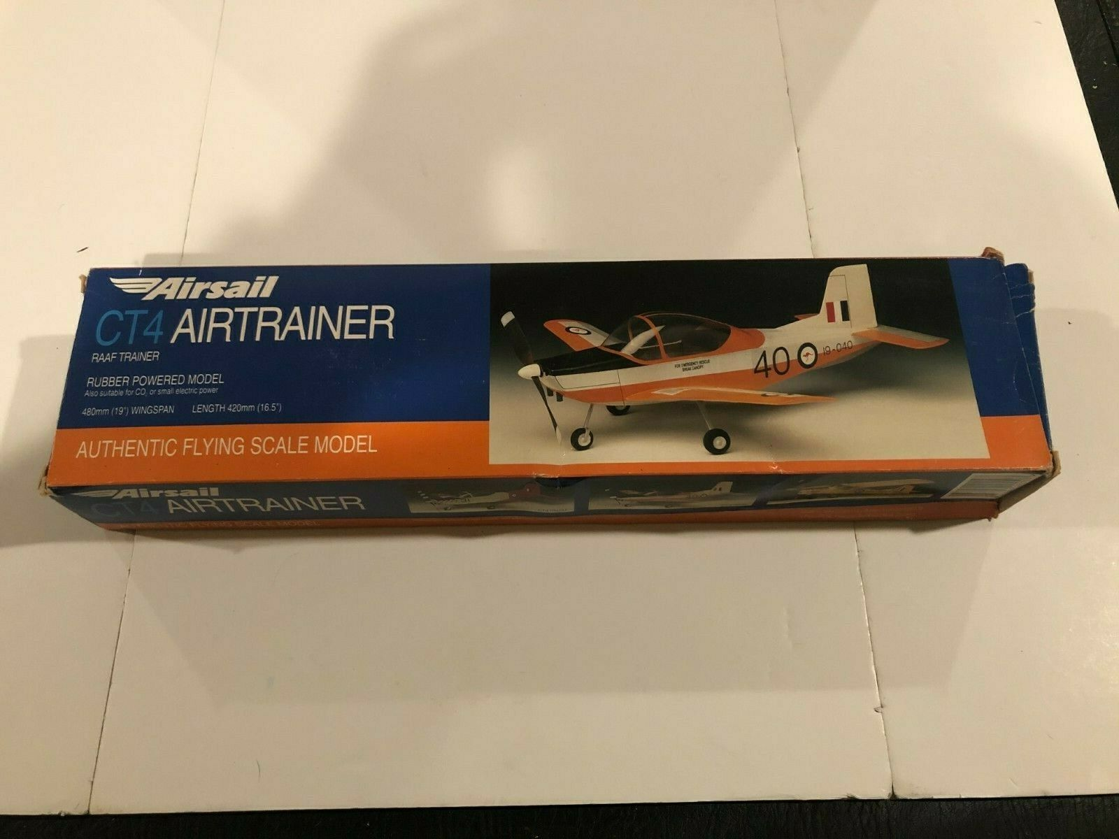 Airsail CT4 Airtrainer Aircraft Rubber Powered Flying Scale Model - $22.56
