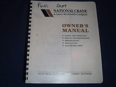 National Crane N-70 H21 Seated Control Service Shop Workshop Repair Parts Manual