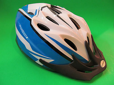 Schwinn Bicycle Helmet Youth 3 & Up. Blue / White Color.