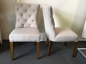 New Moonlight Chesterfield Fabric Dining Chair - plenty available Epping Whittlesea Area Preview