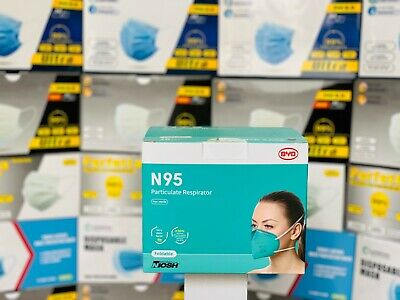 5pcs Byd De2322 N95 Respirator Face Mask Ce Fda Niosh Approved Medical Use