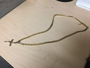 "18"" solid 14k gold chain"