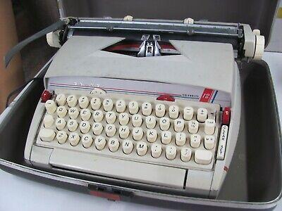 Vintage Sears Celebrity 12 Electric Powered Portable Typewriter W Hard Case