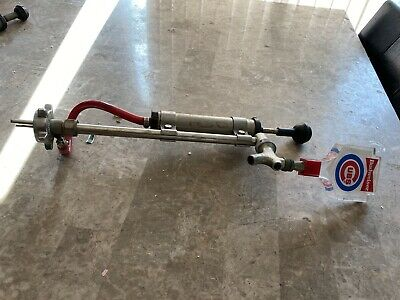 Budweiser Cubs Beer Tap Handle With Entire Pump Keg Tapper Not Tested Vintage