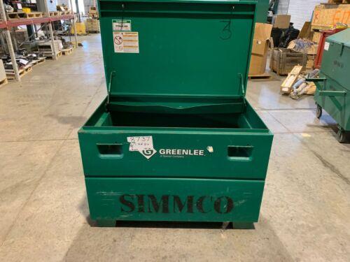 "USED GREENLEE MOBILE STORAGE BOX 30X48X30"" JOB BOX TOOL CHEST 3048/23362"