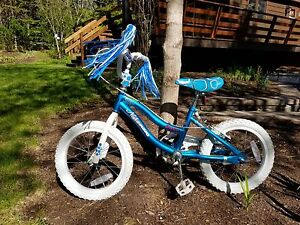 "16"" Girls Nakamura bike with training wheels"